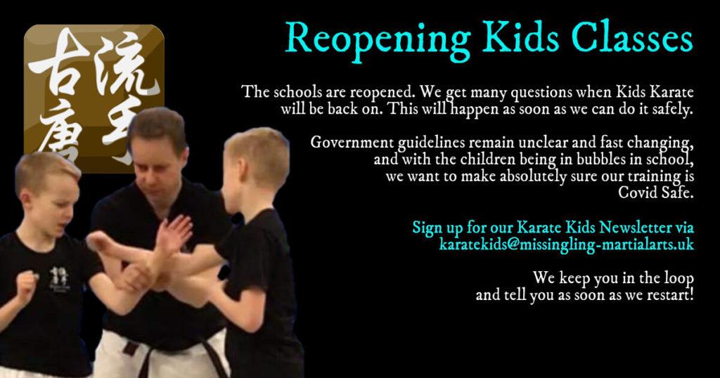 kids karate classes reopening soon